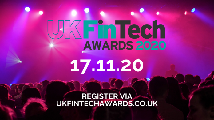 Get registered and ready for the UK FinTech Awards 2020