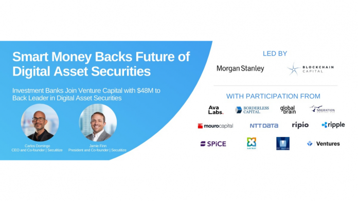 Blockchain company Securitize raises $48m in series B round